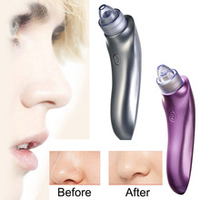ABS Purple Silver Electric Face Pore Cleaner Blackhead Remover Vacuum Acne Comedo Suction Facial Beauty Machine