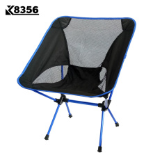 K8356 Hot Sale 4 Colors Ultra Light Aluminium Alloy Outdoor Folding Chair Fishing Chair Portable Backpacking BBQ Camping Chair(China)