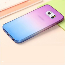 Soft TPU Gradient Color Back Cover Case For Samsung Galaxy A3 A5 S3 S4 S5 S6 S7 Edge Note 2 3 4 5 7 J3 J5 G530 G850 S3 mini