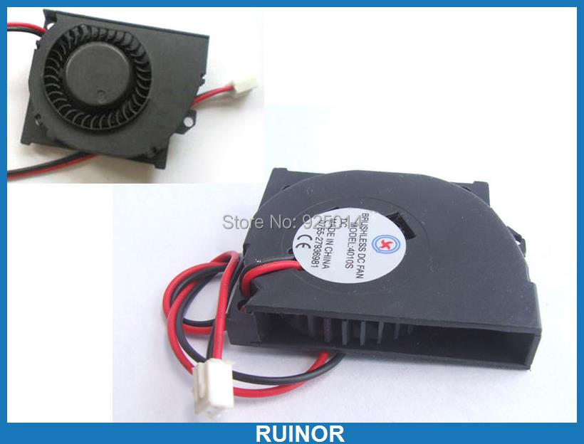 10PCS DC 5V Fans 40x40x10mm 2 Wire Turbine Brushless Cooling Blower Fan 4010S<br>