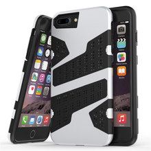 for Apple iPhone 6 Plus / 6s Plus Case [Mesh Dot] TPU + PC Hybrid Back Armor Cover Simple Classics Camouflage Cell Phone Case(China)
