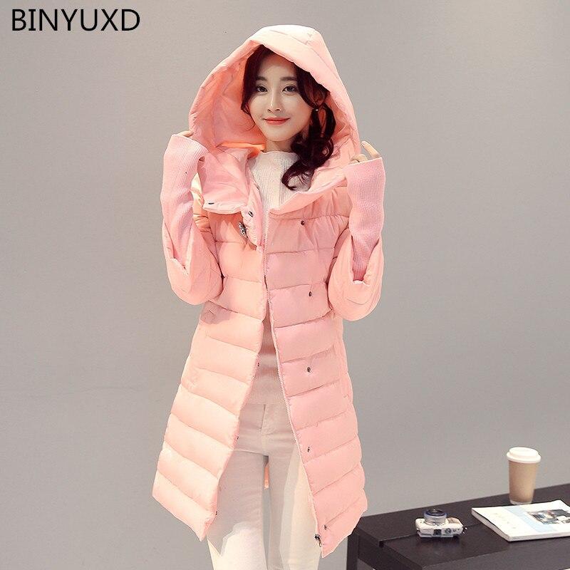 New Winter Fashion Cotton Coat Female Slim Warm Hooded Parkas Female Overcoat High Quality Glooves Women Cottonpadded Jacket coaÎäåæäà è àêñåññóàðû<br><br>
