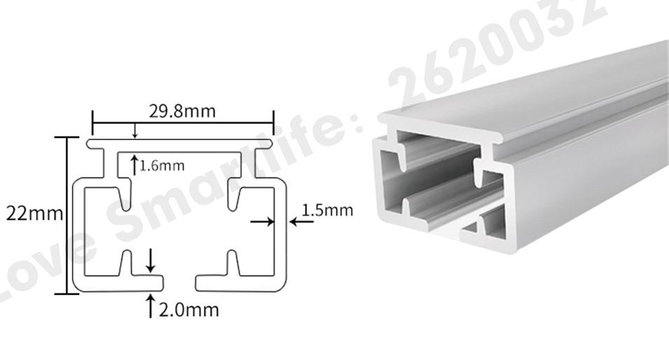 Original Dooya Super Quiet Electric Curtain Track for Xiaomi aqara motor, Dooya Automatic Curtain Rail System, Smart Home-5