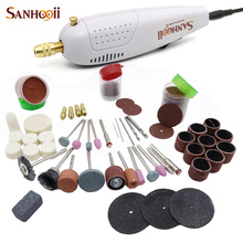 SANHOOII Mini Electric Drill Handy Grinder and Accessories For Dremel Engraving Grinding Sharpening Cutting DIY Power Tools(China)
