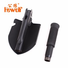 Hewolf Mini Multi-functional Military Folding Shovel Snow Spade Survival Trowel Emergency Garden Camping Outdoor Portable Tool