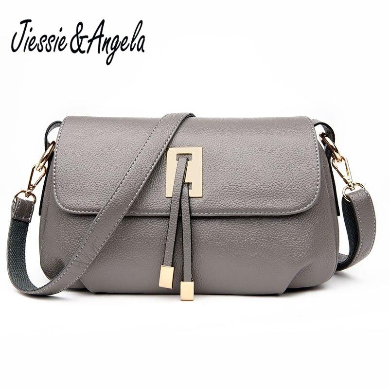Jiessie &amp; Angela New Designer Handbag High Quality Women Bag Fashion 2017 Brand Ladies hand bag Big Pu Leather Lady Shoulder Bag<br>