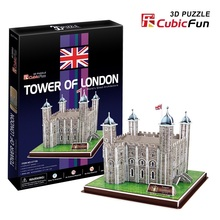 "Kingtoy 3 d puzzle the paper craft-- tower of London (England)"" puzzle toy Child Diy Toy"