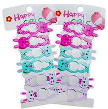 6 Pcs/Pack Cartoon Bunny Hairpin Girls' Hair Clips Kids Hair Accessories(China)