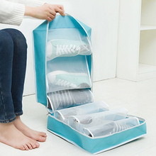 Travel Shoe Storage Bag Portable 6 squares Oxford Closet Organizer Box Waterproof Wholesale Bulk Lots Accessories Supplies