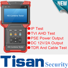 4 inch Screen IP tester AHD TVI Analog cctv test monitor 4 in 1 tester for security camera build in TDR and Cable testing