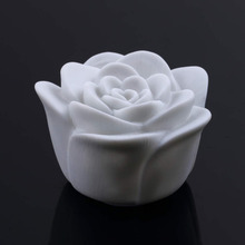 New 1Pc Rose Flower LED Light Night Changing 7 Colors Romantic Candle Light Lamp High Quality(China)