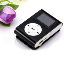 USB Clip MP3 Player LCD Screen Support 32GB Micro SD TF Card Blue Beautiful Gift Wholesale price_KXL0530