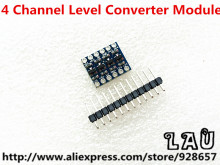 10pcs/lot 5V-3V IIC UART SPI Four Channel Level Converter Module for Arduino Free Shipping via China Post