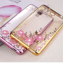 Ringcall TPU Soft Phone Case For Xiaomi 4 4C 4S Silicon Diamond Crystal Glitter TPU Soft Back Cover Mobile Case Mi4 Mi4C Mi4S