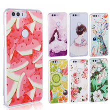Soft TPU 3D case Huawei honor 8 case cover,Back Case for Huawei honor 8 fashion cases cover honor8