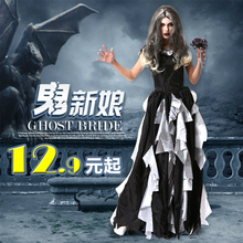 Tim Burton's Corpse Bride Cosplay Dresses Ghost Zombie Bride Costumes Vampire Halloween Fancy Party Adult Clothes Witch Dress