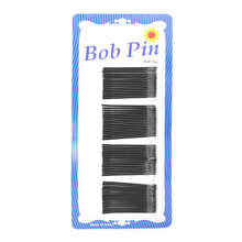 60x Fashion Invisible Hair Clips Flat Top Bobby Pins Grips Salon Barrette Black(China)