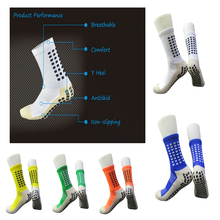 1 Day ship Top Quality Outdoor Football Socks Anti Slip Soccer knee high Socks Men Cotton Calcetines Type As The Trusox unisex