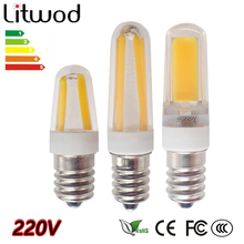 Litwod Z30 new arrival G9 E14 COB led 6W AC 220V G9 led lamp Led bulb 2609 LED G9 light Replace 30/40W halogen lamp light(China)