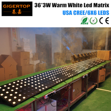 TIPTOP New Warm White Flat Led Matrix Light 6x6 USA Cree Lamp DMX Control 17CH/5CH/36CH Linear Dimmer Pattern/Number Beam Show(China)