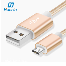 hacrin Micro USB Cable 100% New Universal Android USB Wire Charger For All Android Smartphone Phone(China)
