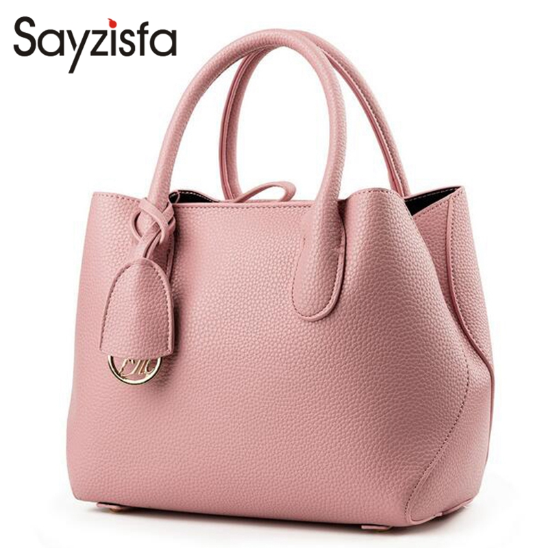 Sayzisfa Famous Brands New Women Luxury Handbags Leather Female 2017 Design Woman's Tote Ladies Shoulder Bag Feminina Bolsa T318