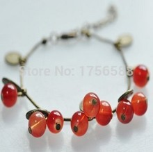 hot new fashion factory wholesale vintage cherry sweet beautiful bracelet jewelry accessories Free shipping