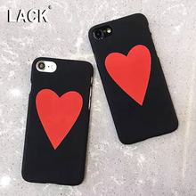LACK Lovely Red Peach Heart Case For iphone 7 Case Cartoon Back Cover Fashion Hard PC Phone Cases For iphone 7 PLus Capa(China)