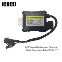 ICOCO Slim HID 55W Xenon Digital Conversion Ballast Kit for H1 H3 H3C H4-1 H4-2 H7 H8 1 pcs HID BALLAST DC 12V