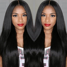 JK Brazilian Virgin Full Lace Human Hair Wigs Glueless Full Lace Front Wig Natural Black Straight Wigs for Black Women Free Part