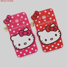 New 3D Cartoon Hello Kitty Case Soft Silicon Back Cover for Samsung Galaxy 2016 J5 J510 & J7 J710 Rubber Phone Shell