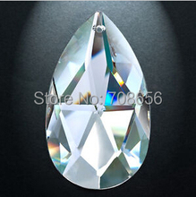 5pcs 76MM CLEAR CRYSTAL PRISM SUNCATCHER CHANDELIER CRYSTAL ALMOND DROP PARTS rainbow wedding romantic decoration(China)