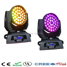 2PCS professional 36*15W RGBWA 5IN1 LED Zoom Moving Head Light 36x15W Zoom LED Moving Head Wash Light DMX led beam lighting