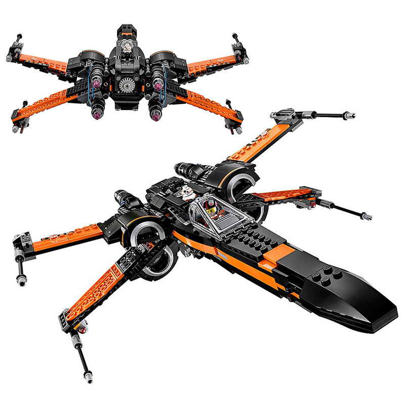 LEPIN 05004 748pcs Star Wars First Order Poe\s X-wing Fighter Lepin Building Block Compatible 75102 Brick Toy<br>
