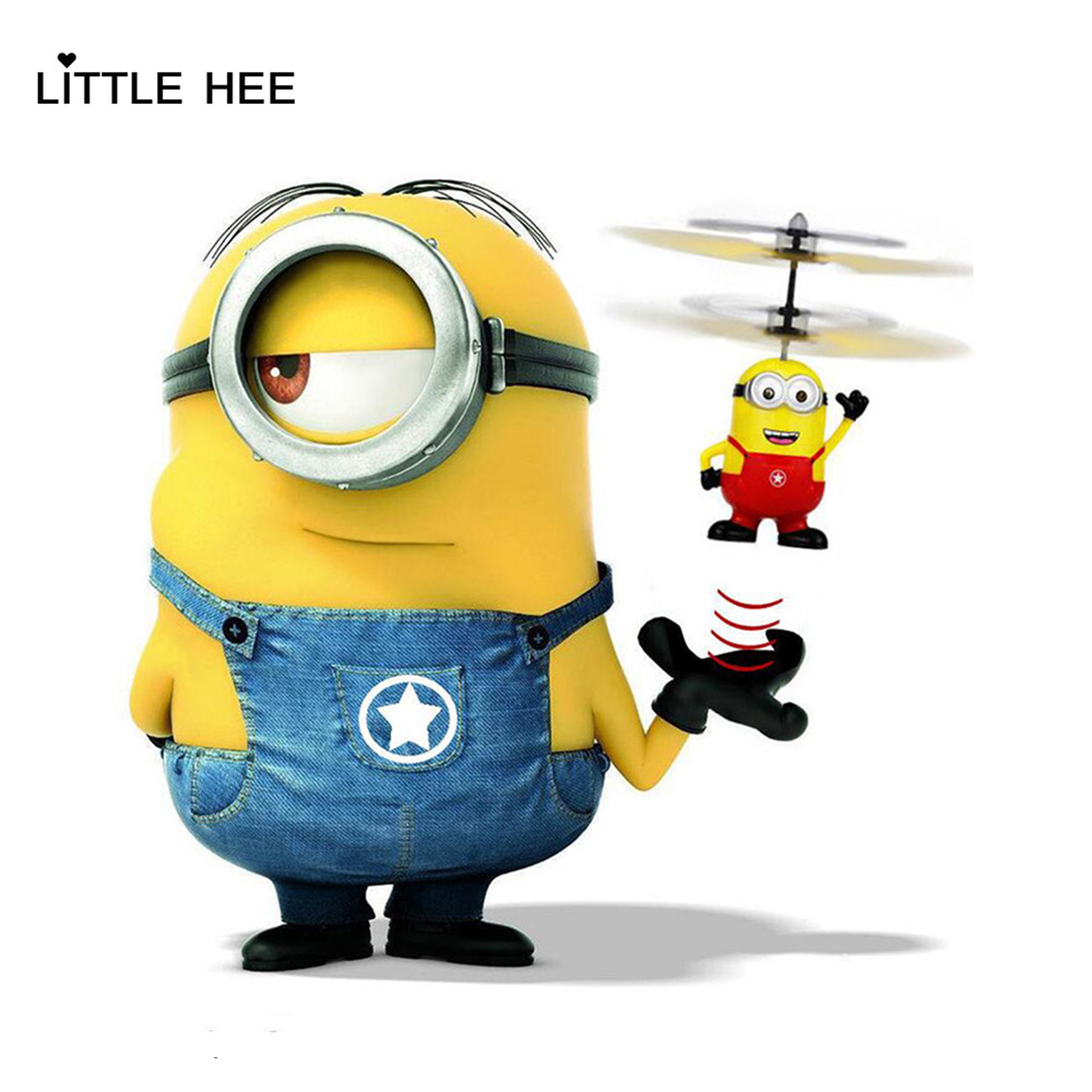 LITTLEHEE Minions Cartoon Upgrade Induction Flying Toys Minions Remote Control RC Helicopter floating toys kids Flying toys(China (Mainland))