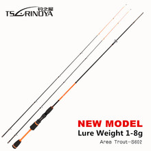 TSURINOYA JOY TOGETHER IV 1.8m UL+L Luminous 2 Tips Ultra Light Night Fishing Spinning Rod Lure Weight 0.6-8g Carbon Fishing Rod