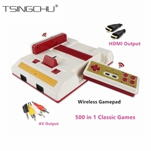 Classic Retro Family TV Handheld Game Player HDMI Output Dual Wireless Gamepads Mini TV Video Game Console 500+ NES Games Card(China)
