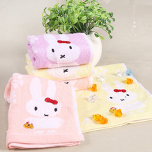 NEW 2016 Bamboo Cotton Cartoon Rabbit Hand Towels On Sale Personalised Patterned Designer Towel For Kids Childrens Adults Guest