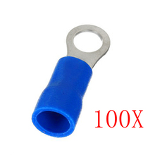 100PCS New Ring Ground Insulated Wire Connector Electrical Crimp Terminal 14-16AWG ALI88(China)