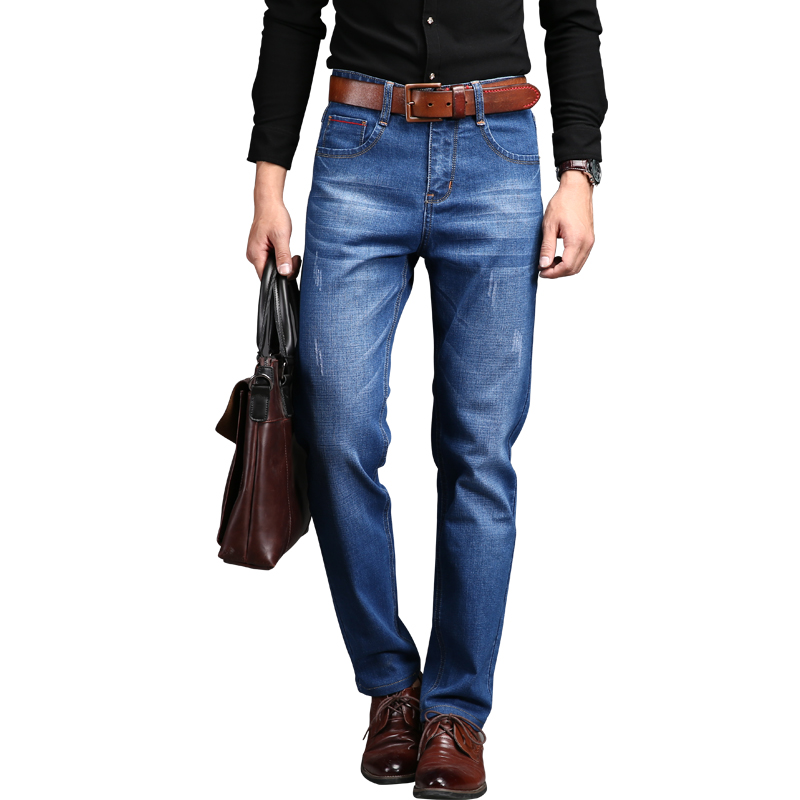 2017 Famous Brand Skinny Jeans  Mid Waist  Zipper Fly Regular Fit Full Length Solid Men Jeans With StretchОдежда и ак�е��уары<br><br><br>Aliexpress