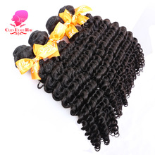 QUEEN BEAUTY HAIR Malaysian Curly Hair Bundles 1 Piece Remy Hair Weaving Natural Color Human Hair 12inch To 30inch Free Shipping(China)