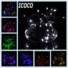 ICOCO 7M 50LED Solar Powered Ultra Bright Waterproof IP68 Holiday Christmas Garland Colorful Fairy String Light for Party Decor