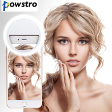 POWSTRO K Selfie Portable Flash Lamp Led Light Camera Phone Photography Selfie Ring light Ehance Light For iPhone 7 Samsung HTC(China)