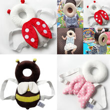 Cute Baby Infant Toddler Stuffed Baby Back Protector Safety Harness Headgear Cartoon Wings head Protector Guard Pillow (China)