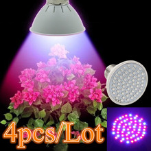 (4pcs/Lot) 60 LEDs Grow Light E27 85-265V Full Spectrum Indoor Plant Lamp For Seedling Vegs Flower Hydroponic System Plant Light(China)