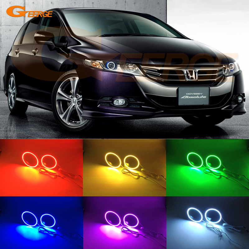 For honda Odyssey RB3 RB4 2008-2013 Excellent Angel Eyes Multi-Color Ultra bright RGB LED Angel Eyes kit Halo Ring<br>