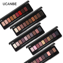 UCANBE Brand Shimmer Matte Eyeshadow Palette 10 Color Long Lasting Warm Pigmented Eye Shadow Make Up Powder Cosmetic Smokey Eyes(China)