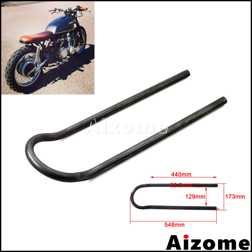 "7//8/"" Cafe Racer Rear Seat Frame Hoop Brat Style End For Yamaha XS 750 850 1100"