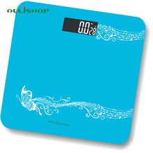 ALLiSHOP 2 colors fashion digital bathroom scales 0.2g-180Kg Temperature BMI Difference comparison electronics floor scale