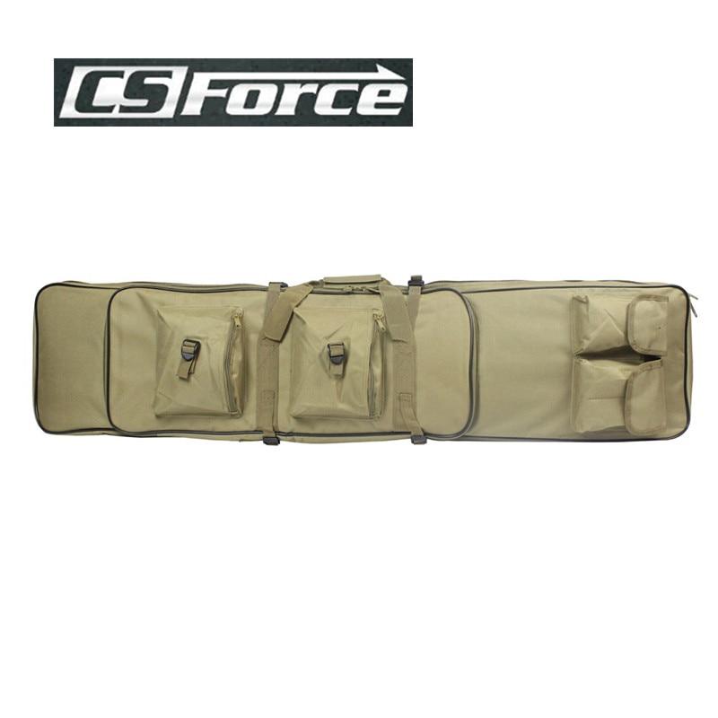 CS Force Airsoft 1.2M Gun Bag Hunting Heavy Duty Gun Carry Bag Rifle Case Paintball Military Rifle Bag Case Shoulder Pouch Tan<br>